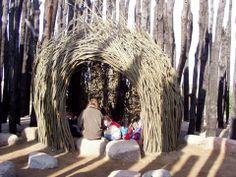 Alfio Bonanno, land work (capanna di legno)