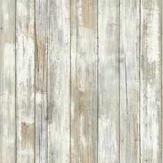 """Add the look of rustic wood planks to your wall or furniture with the """"Distressed Wood"""" Peel & Stick Wall Décor. The x vinyl rectangle can be peeled off and repositioned without leaving wall damage or sticky residues. Look Wallpaper, Peel And Stick Wallpaper, Wood Plank Wallpaper, Rustic Wood, Barn Wood, Distressed Wood, Vinyl Plank Flooring, Wood Planks, Vinyl Planks"""
