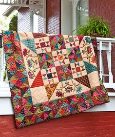 Great quilt -- love the pieced border