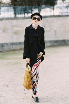 Polish model Maja Salamon (Next), Tuileries, Paris, October 2012.