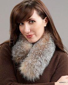606c46bf356 Fur Collar   Scarf - Crystal Fox Fur White Fox