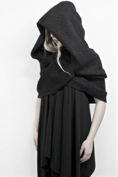 @Nuitclothing Winter2016 Capsule Mythic: Hooded Infinity Cowl - Fashion Fantasy - Darkness                                                                                                                                                                                 More