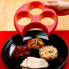 Use with any plate, makes portion control simple.