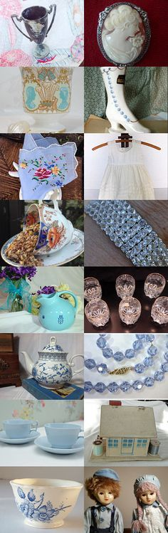 Blue White and Silver Gifts, Vrev Team by Janet on Etsy--Pinned with TreasuryPin.com