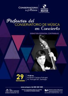 No te pierdas el concierto GRATUITO del contrabajista y profesor del Conservatorio de Música UMayor, Sebastián Espinosa. #umayor #conservatorio #musica #arte #universidadmayor #contrabajo