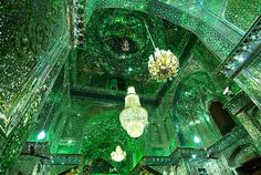 "Shah Cheragh mosque in Shiraz, Iran. The name Shah Cheragh translates into ""King of the Light"" or ""Shrine of the lord of the light"". Beautiful Places To Visit, Beautiful World, Amazing Places, Pink Mosque, Fantasy Places, Light Of Life, In Ancient Times, Beautiful Buildings, Countries Of The World"