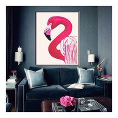 Inspiration courtesy of @theloftandus #interiors #regram #flamingo #decor #grey #design #lifestyleblogger