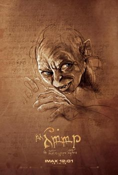Hobbit poster - Gollum    Can I have this? Please?