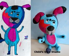Company that makes Stuffed animals from your child's drawings