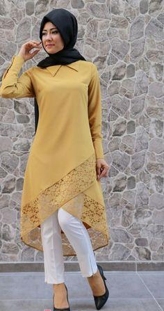 34 Comfortable Fashion Trends You Should Own Daily Fashion Outfits Tesettür Tunik Modelleri 2020 Islamic Fashion, Muslim Fashion, Modest Fashion, Hijab Fashion, Indian Fashion, Fashion Dresses, Kurta Designs, Blouse Designs, Pakistani Dresses
