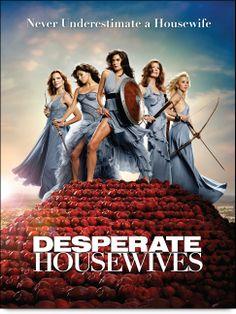 Teri Hatcher, Dana Delany, Felicity Huffman, Marcia Cross, and Eva Longoria in Desperate Housewives Marcia Cross, Desperate Housewives, Real Housewives, James Denton, Dana Delany, George Clooney, True Blood, Buffy, Poster