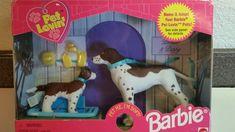 1998 Barbie Pet Lovin' Pointer & Puppy Pet Me I'm Soft