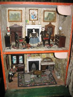 Early antique English SILBER & FLEMING Doll House with contents from sondrakruegerantiques on Ruby Lane