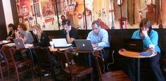 Need help getting the creative juices flowing?  According to this study a trip to your local coffee shop may help.