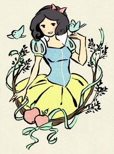 Colored Princess Sketches Original Artwork: Érica Nagai  Coloring: Rachel