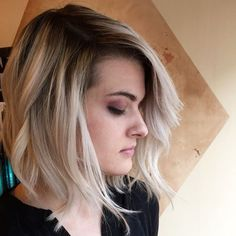 Photo of Eclipse Salon - San Francisco, CA, United States. Platinum blonde, shadow root , color melt , lob cut By Gary Yeung !