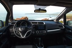 We can't think of a better place to be to take in these coastal views than from the interior of a Honda Fit.