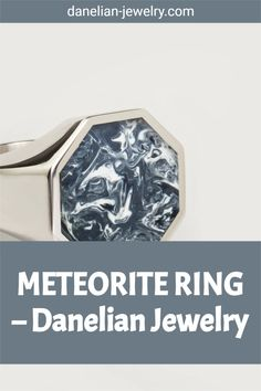 METEORITE RING Meteorite Ring, Amazing Gifts, Signet Ring, Silver Man, Jewelries, Making Out, Band Rings, Invite, Finding Yourself