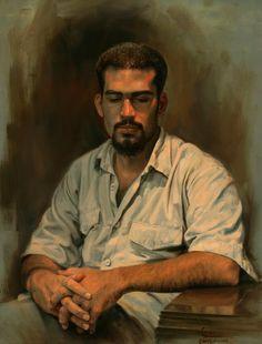 Portrait-of-a-man by Iman Maleki (contemp.)