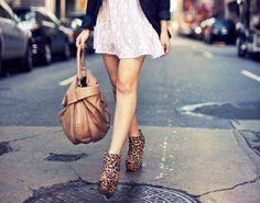 leopard shoes.