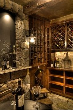 Wine Cellar Design Ideas Pictures Remodels and Decor & Wine cellar and celebration area... I am totally in love with this ...