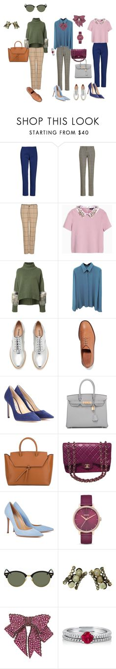 Без названия #9 by yana-andic on Polyvore featuring мода, Sally Lapointe, Gucci, Max&Co., Chaus, Jimmy Choo, Gianvito Rossi, Mansur Gavriel, Hermès and Chanel