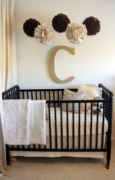 2-piece Oatmeal & Cream Luxe Cotton Bumperless Baby Bedding Set, Custom Made to Order. $230.00, via Etsy.