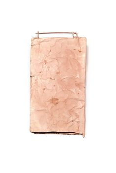 KATHLEEN JANVIER-USA - Cranbrook Academy of Art, Bloomfield Hills, USA - brooch, We Carry Volumes – All These Empty Pages, 2013, rose gold-plated copper