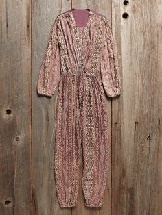 Everyone needs a jumpsuit. A perfect piece for layering too! Free People Vintage Indian Gauze Jumpsuit, $298.00