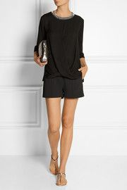 MICHAEL Michael Kors Embellished silk top