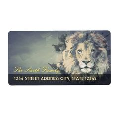 COSMIC LION KING   Custom Return Address Labels