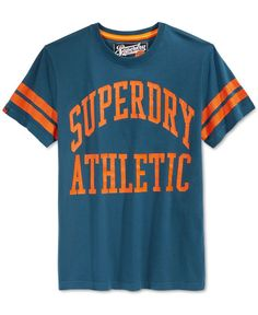 Superdry Men's Graphic-Print T-Shirt Superdry Mens, Fleece Shorts, Tshirts Online, Graphic Prints, Tee Shirts, Summer, Clothes, Shopping, Tops
