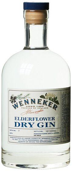 Wenneker Elderflower Dry Gin x l) Fun Drinks Alcohol, Alcoholic Drinks, Cocktails, Dutch Gin, Gin Tasting, Gin Brands, Gin Bottles, Dry Gin, Geneva