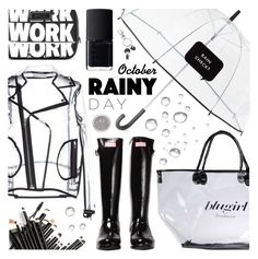 """Rainy Day"" by pastelneon ❤ liked on Polyvore featuring Wanda Nylon, Kate Spade, Blugirl, Hunter, Marc by Marc Jacobs and NARS Cosmetics"