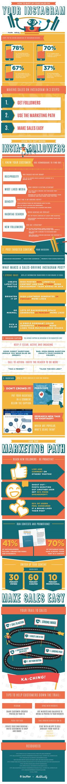 How to Naturally Bolster Your Company's Instagram Presence - #infographic