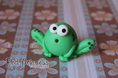 polymer clay frog - sapo toyart by theredprincess