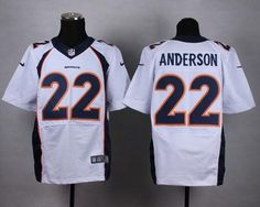 """$23.88 at """"MaryJersey""""(maryjerseyelway@gmail.com) Nike Broncos 22 C.J. Anderson White Men Stitched NFL New Elite Jersey Jersey"""