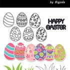 FREEBIE Easter Clipart  - Color Easter Clipart .PNG - Color Easter Clipart .JPG - Black&white Easter Clipart .PNG - Black&white Easter Clip...