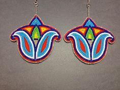 Charlene Holybear beaded earrings (Lakota)