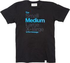Marshall McLuhan t-shirt.