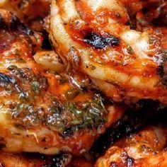 Shrimp - Marinated Grilled @keyingredient #shrimp