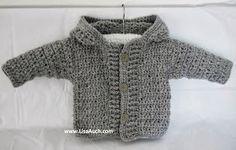 FREE Crochet Patterns-Crochet Patterns- Baby-Boy-Cardigan-patterns-Easy-Hooded-Crochet-Cardigan-Pattern-FREE
