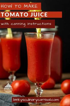 Canning Tomato Juice, Tomato Juice Recipes, Canning Whole Tomatoes, Canning Vegetables, Vegetable Juicer, Canning Peaches, Brunch Drinks, Food Mills, How To Can Tomatoes