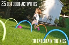 25 Outdoor Activities to do with Kids! Outdoor Activities For Kids, Activities To Do, Summer Activities, Games For Kids, Kid Games, Painting Activities, Family Games, Kids Fun, Physical Activities