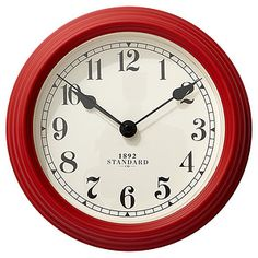 Winston 1892 Standard 22cm Clock - Red | Target Australia