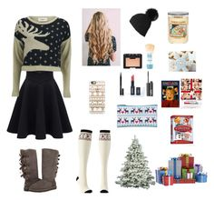 """""""Christmas Time"""" by sopluvesonedirection ❤ liked on Polyvore featuring Charlotte Russe, UGG Australia, Casetify, Vero Moda, Elizabeth Arden, NARS Cosmetics, Maybelline and Yankee Candle"""