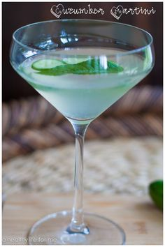 cucumber martini  2 ounces Vodka ½ ounce Lime Juice (1/2 lime) 2-3 slices of Fresh Cucumber 2 mint leaves ½ ounce Simple Syrup