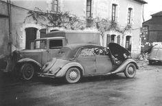 Luftwaffe Car & Truck Collide.