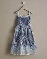 silver lace party dress