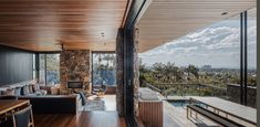 Image 12 of 17 from gallery of The Byron House / Paul Uhlmann Architects. Photograph by Andy Macpherson Studio Eclectic Design, Modern Interior Design, Interior And Exterior, Brighton, The Byron, House Viewing, Outdoor Areas, Architectural Elements, Architecture